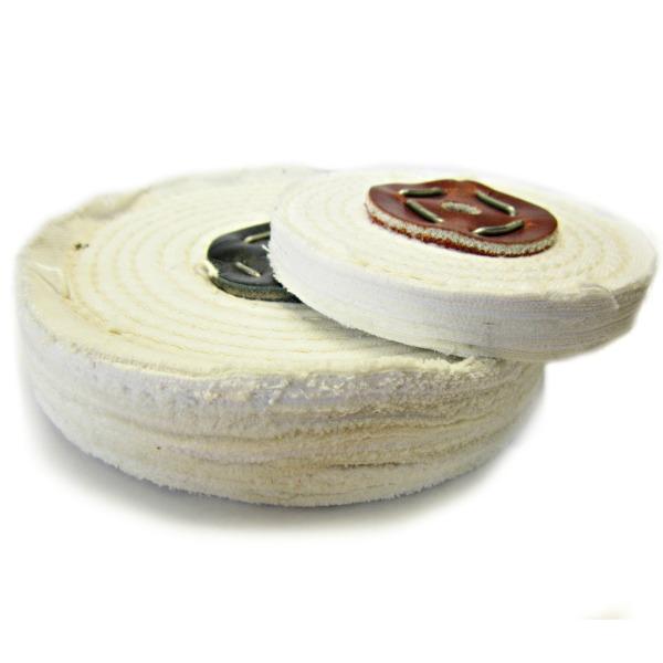 White Stitched Polishing Mops