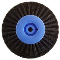 Plastic centre black bristle wheels